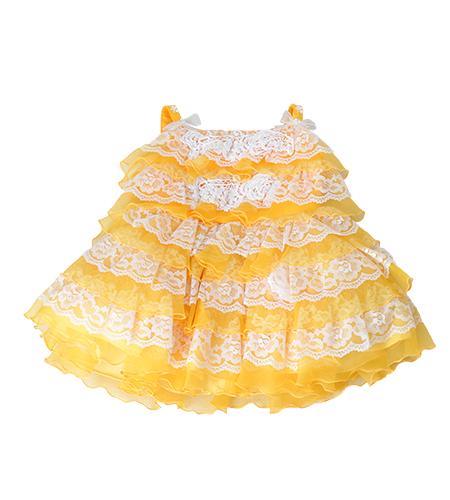 百日記念 / 洋装 / ドレス / オレンジ / 女の子