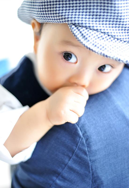 1歳 / お誕生日 / 洋装 / 男の子 / 抱っこ写真