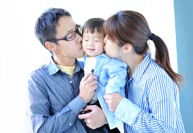 1歳 / お誕生日 / 私服 / 家族写真