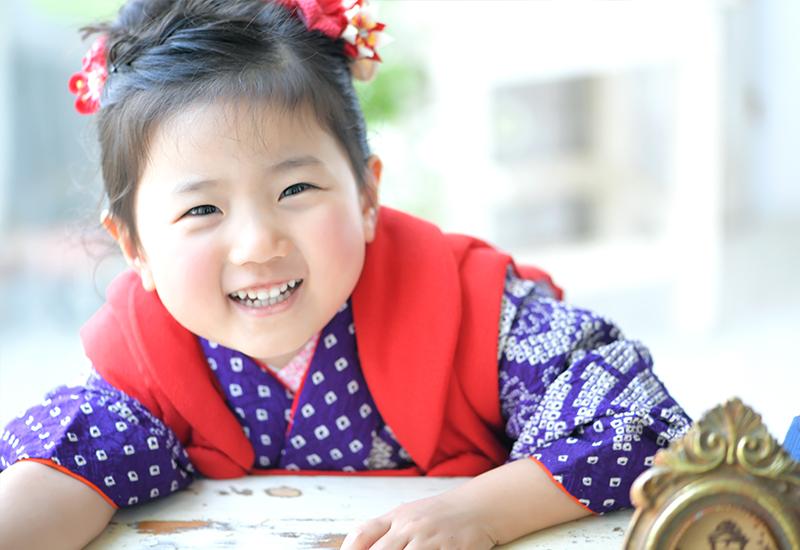 七五三3歳 / 女の子 / 着物 / 紫 / 持込着物