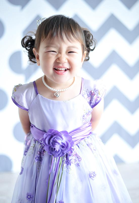 七五三3歳 / 女の子 / ドレス / 紫