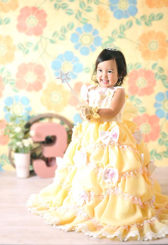 七五三3歳 / 女の子 / ドレス / 黄色