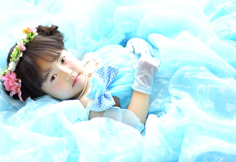 七五三3歳 / 女の子 / ドレス / 水色