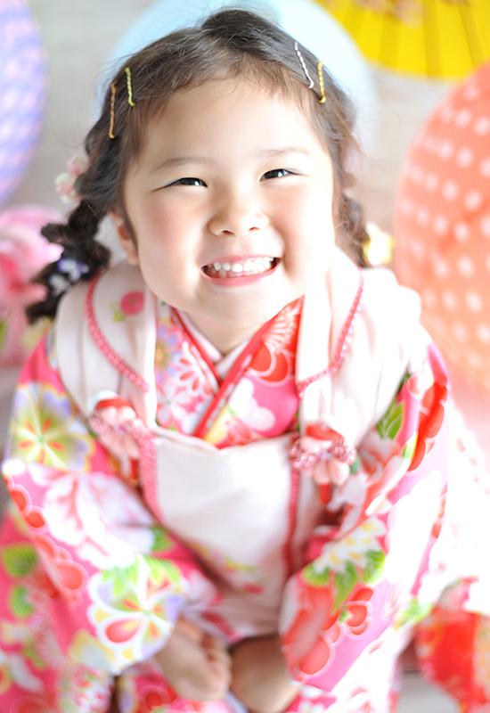 七五三3歳 / 女の子 / 着物 / ピンク