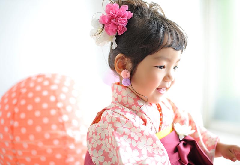 七五三3歳 / 女の子 / 着物 / 袴 / ピンク