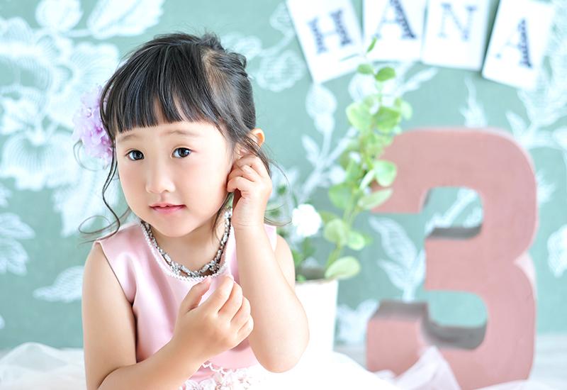 七五三3歳 / 女の子 / ドレス / ピンク