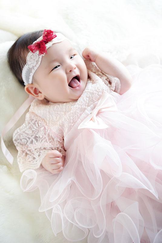 百日祝い 女の子 ドレス ピンク