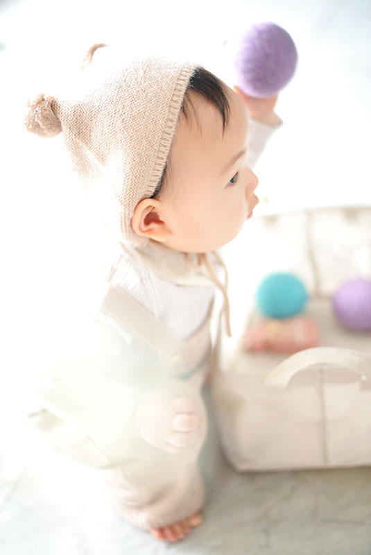 1歳 誕生日 女の子 カジュアル衣裳 ロンパース くま帽子