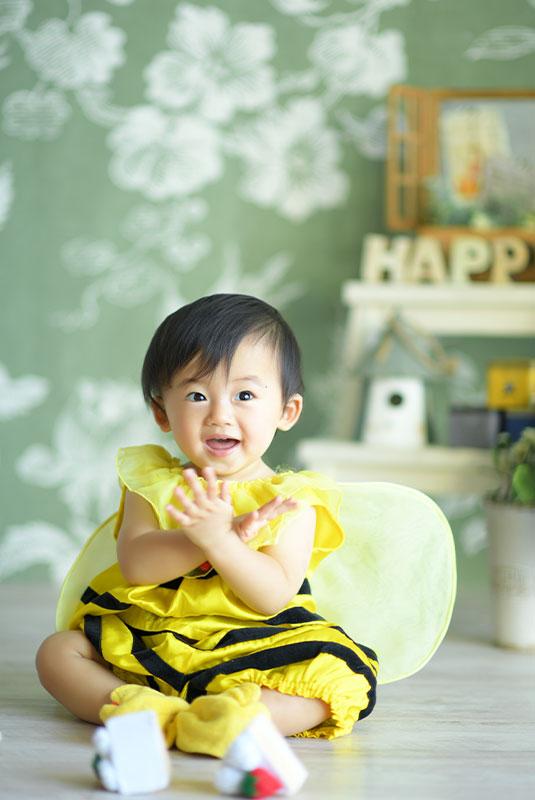 1歳 誕生日 男の子 着ぐるみ 蜂