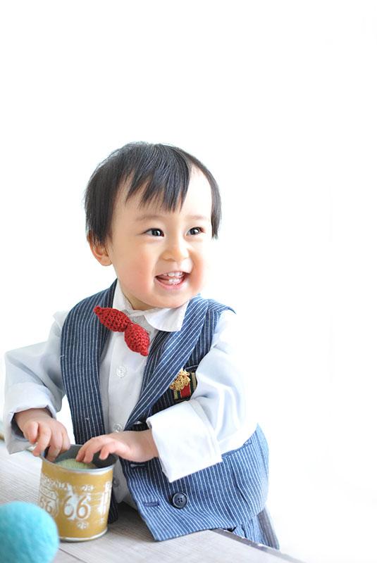 1歳 誕生日 男の子 カジュアル衣裳 蝶ネクタイ