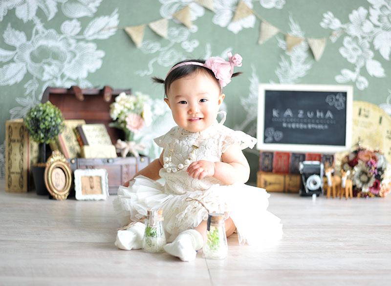 1歳 誕生日 女の子 ドレス アイボリー おしゃれ