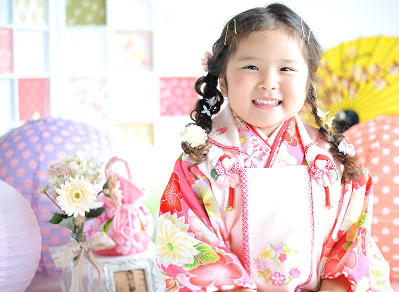 七五三 3歳 女の子 着物 ピンク  かわいい