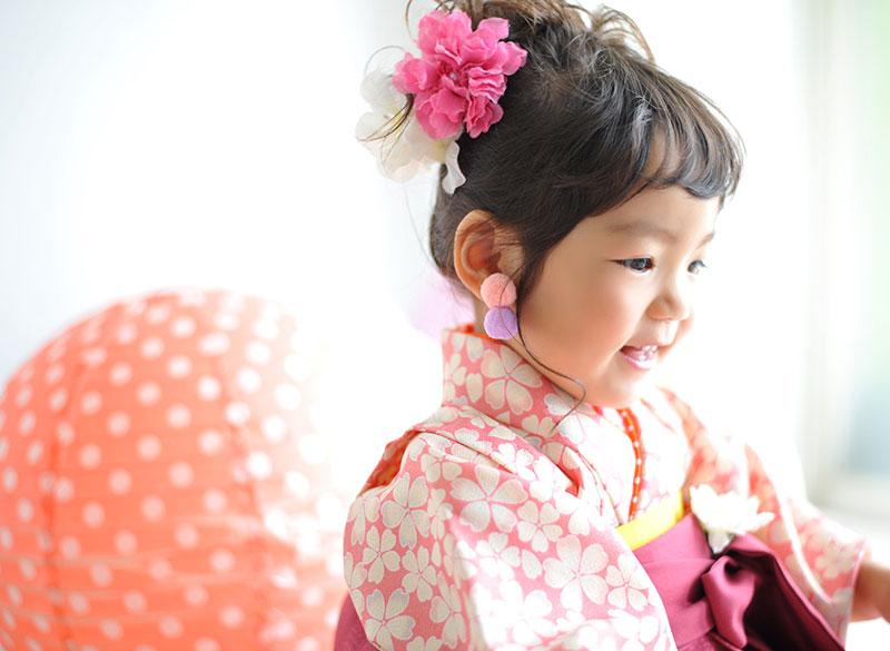 七五三 3歳 女の子 着物 袴 ピンク おしゃれ
