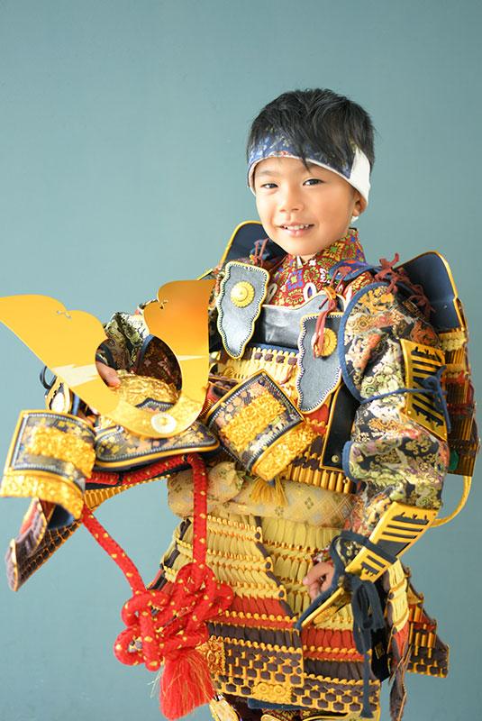 七五三 5歳 男の子 鎧兜 紺兜