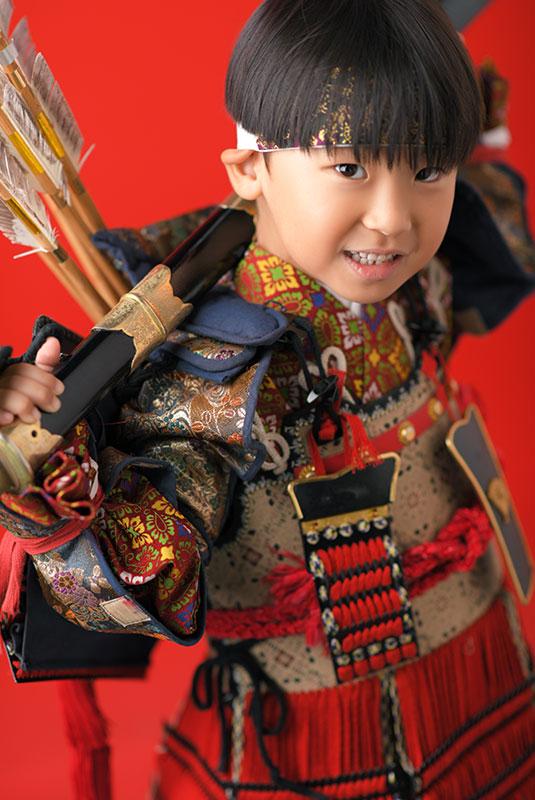 七五三 5歳 男の子 鎧兜 義経 薙刀 矢筒