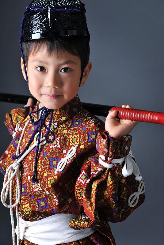 七五三 5歳 男の子 鎧兜 直垂 ひたたれ