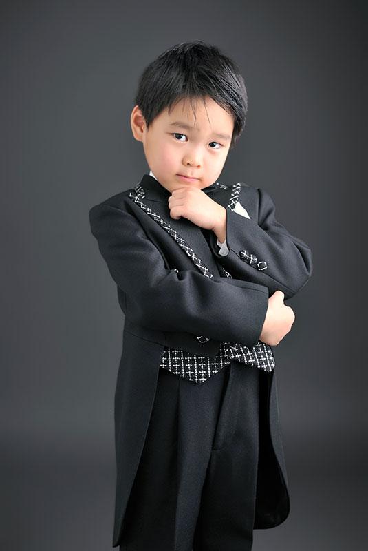 七五三 5歳 男の子 タキシード 黒 蝶ネクタイ