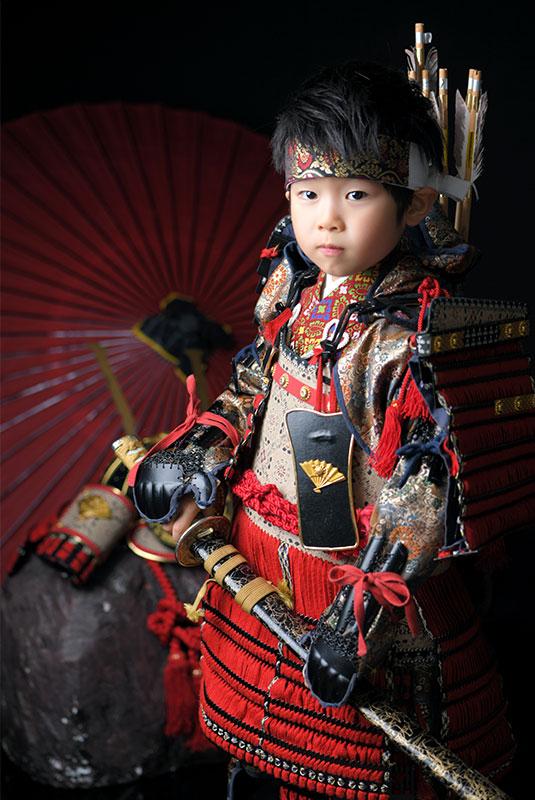 七五三 5歳 男の子 鎧兜 義経 刀 剣 矢筒