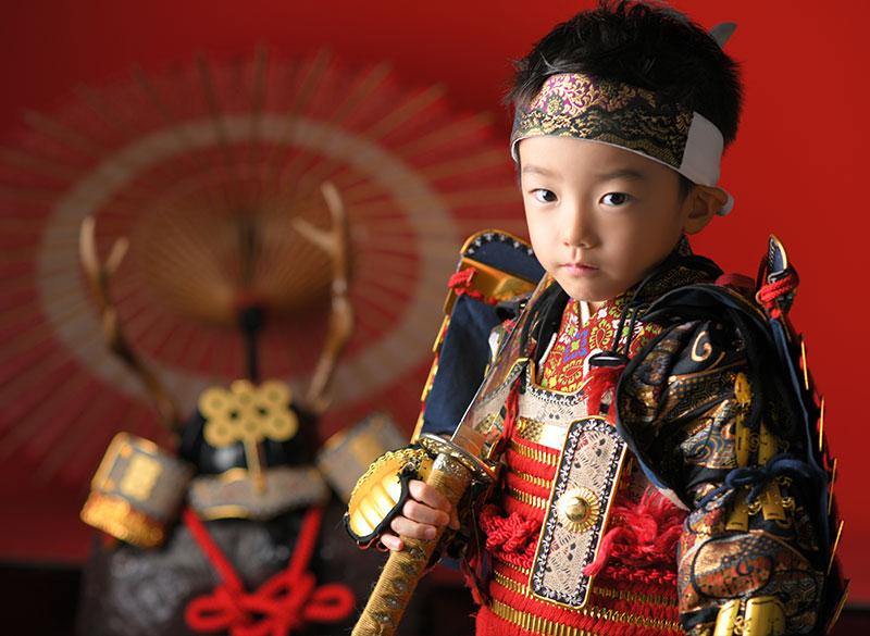 七五三 5歳 男の子 鎧兜 幸村兜 刀 剣