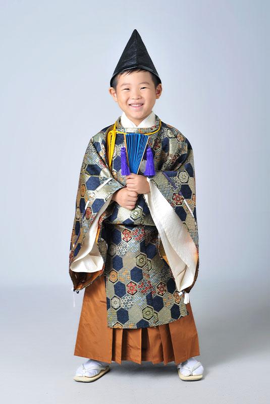 七五三 5歳 男の子 時代衣裳 水干 ストロボ