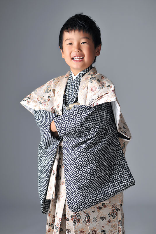 七五三 5歳 男の子 時代衣裳 陣羽織 ストロボ