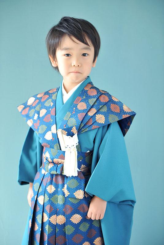 七五三 5歳 男の子 時代衣裳 裃 自然光 カジュアル