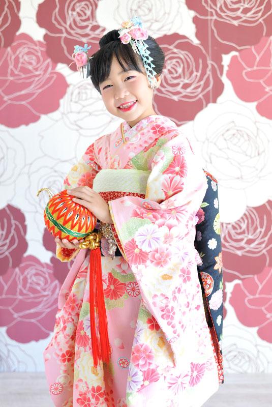 七五三 7歳 女の子 時代衣裳 舞妓さん 自然光 おしゃれ