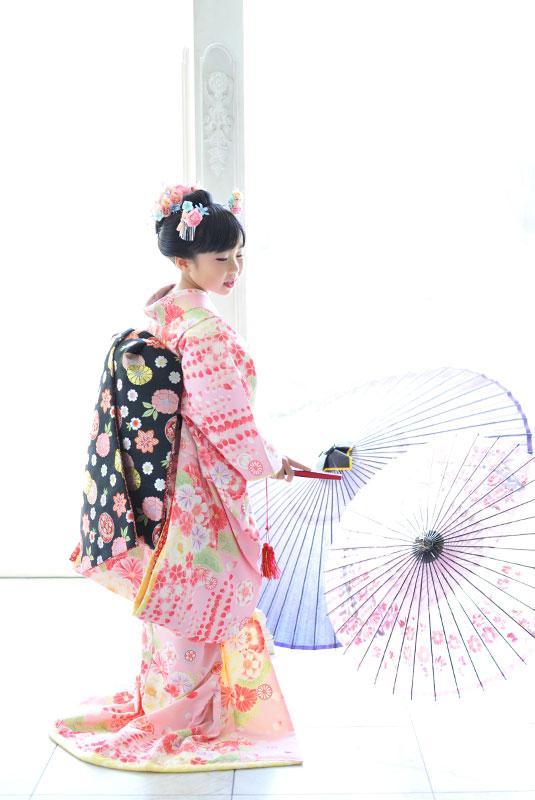 七五三 7歳 女の子 時代衣裳 舞妓さん 自然光 きれい