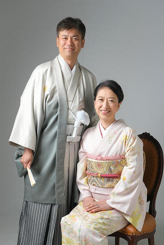 銀婚式 記念 夫婦写真 和装 着物 ストロボ