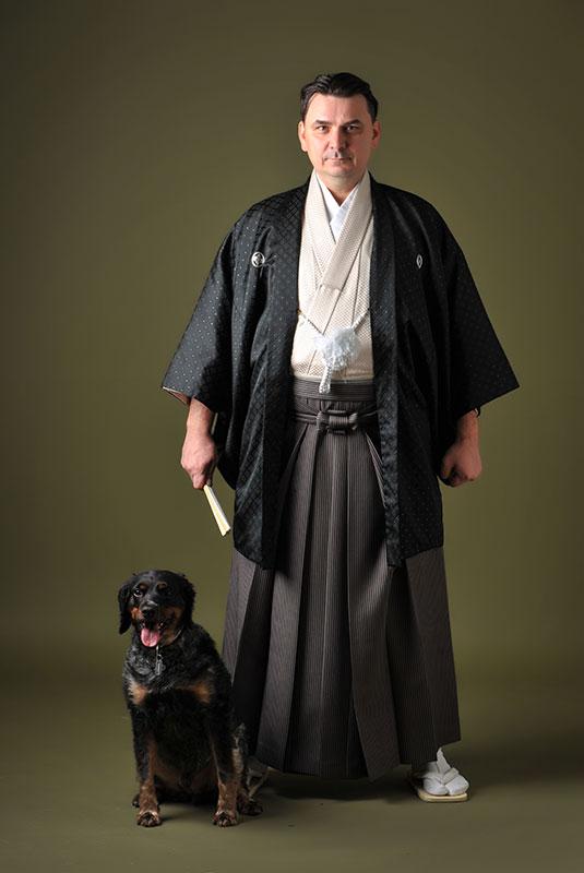 記念 旦那様1人 犬 ペットと一緒 ストロボ ライティング 重厚感