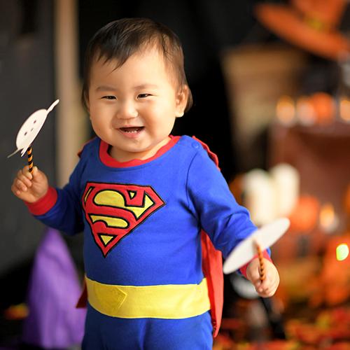 ハロウィン 撮影会 仮装 スーパーマン 男の子