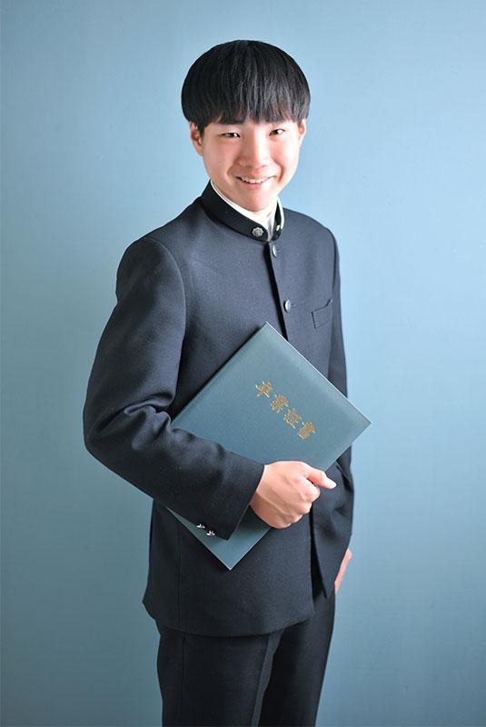 高校 卒業記念 男の子 制服 卒業証書と一緒に