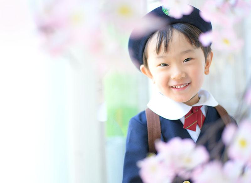 幼稚園 入園記念 男の子 園服 桜