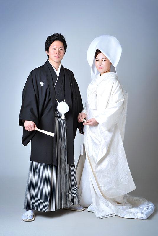 ウエディングフォト 和装 白無垢 綿帽子 ストロボ ライティング  きれい