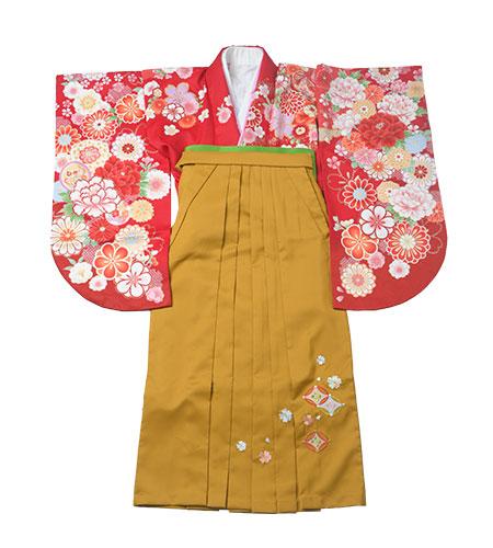 卒業袴 / 赤 / からし色 / 黄色 / 刺繍
