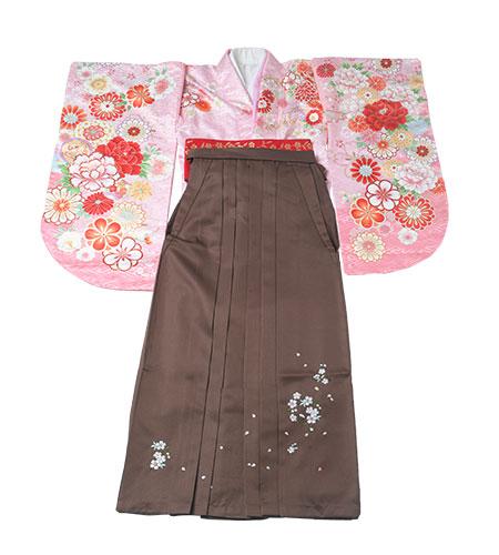 卒業袴 / ピンク / 茶色 / 刺繍