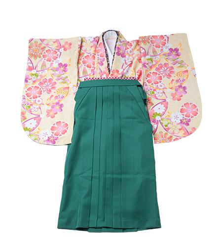 卒業袴 / クリーム×黄色 / 緑 / 刺繍