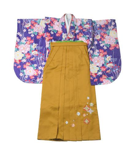 卒業袴 / 青 / からし色 / 黄色 / 刺繍