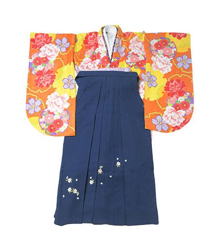 卒業袴 / 黄色 / 紺 / 刺繍